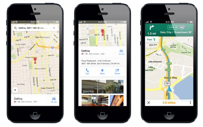 Google Maps at Apple's App Store