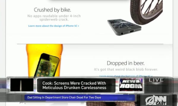 "iPhone 5C - ""The phone you love, broken"""