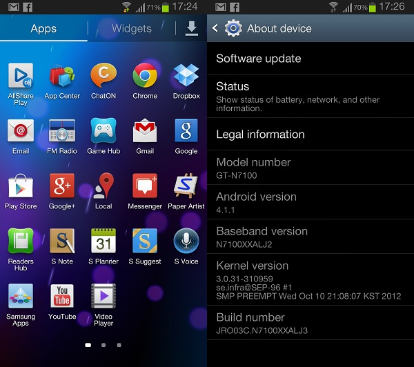 Samsung Galaxy Note 2 with loads of apps and features pre-installed