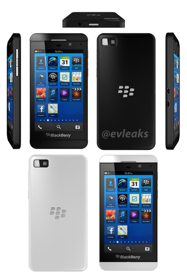 BlackBerry Z10 renders leak