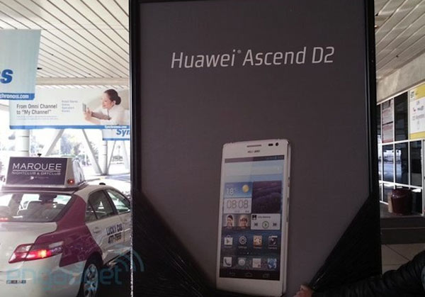 Huawei presents a 5-inch Ascend D2 at CES 2013