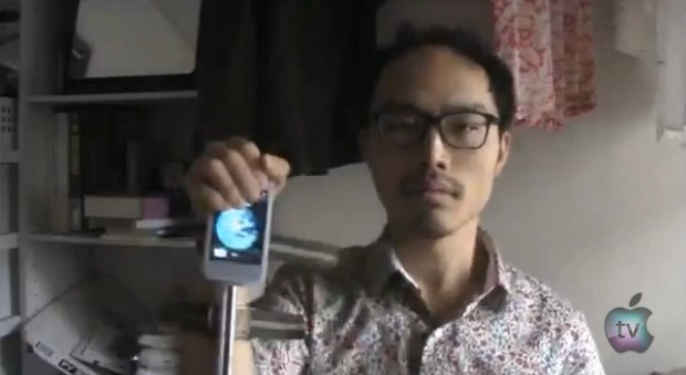 Japanese man makes an iPhone Quick-draw experiment in Taxi Driver style