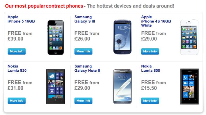 "Lumia 920 among the ""most popular"" smartphones list on Phones4u."