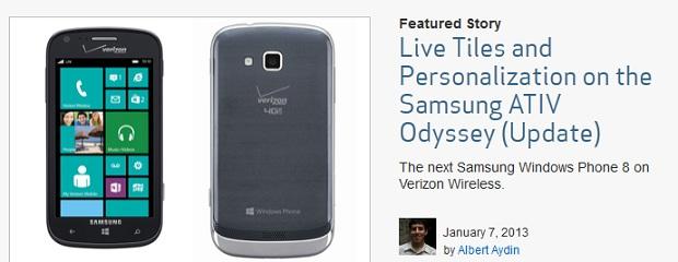 Samsung ATIV Odyssey now with Verizon