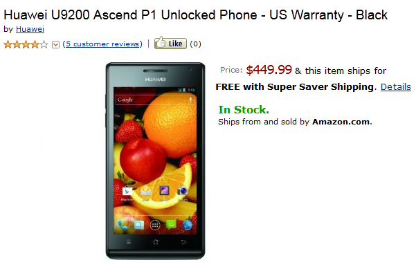 The Huawei Ascend P1 launches in the U.S.