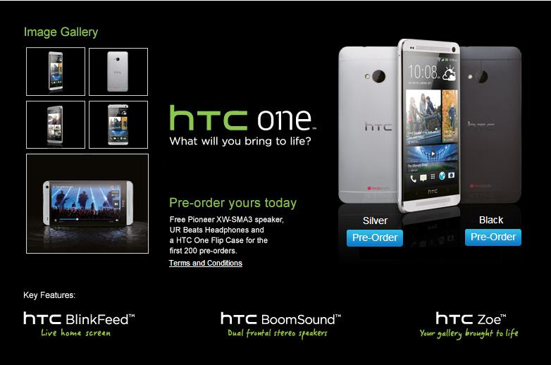 Get HTC One without contract for £459