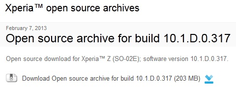 Good guy Sony releases Xperia Z's kernel code