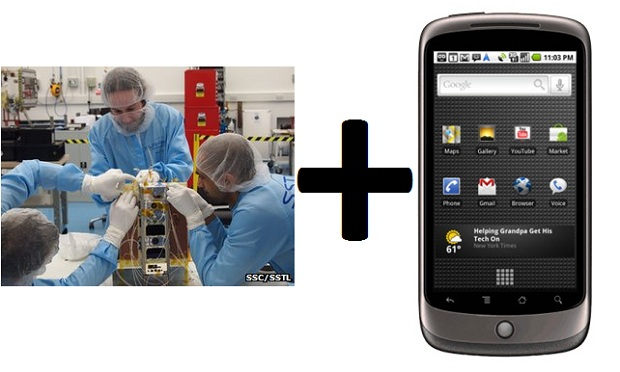 Google Nexus One in control of a space satellite 2