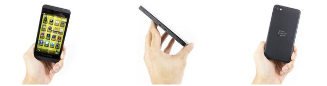 The design of BlackBerry Z10 is simple, even minimalistic.