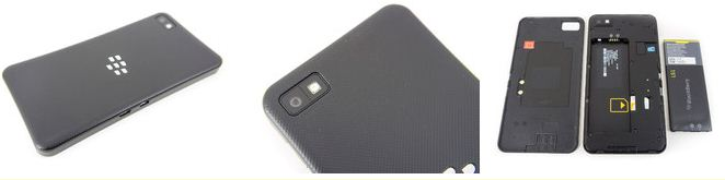 BlackBerry Z10 disappoints to a certain extent with its design.