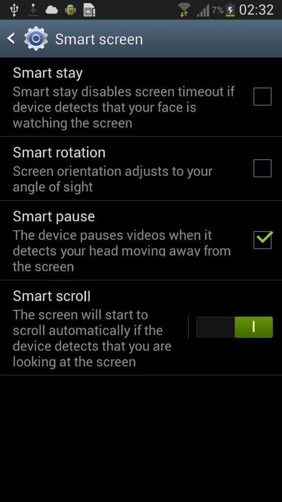 Samsung Galaxy S4 will sport a customizable smart screen.