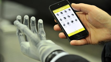 A biosim app for iOS helps for better control over a prosthetic hand