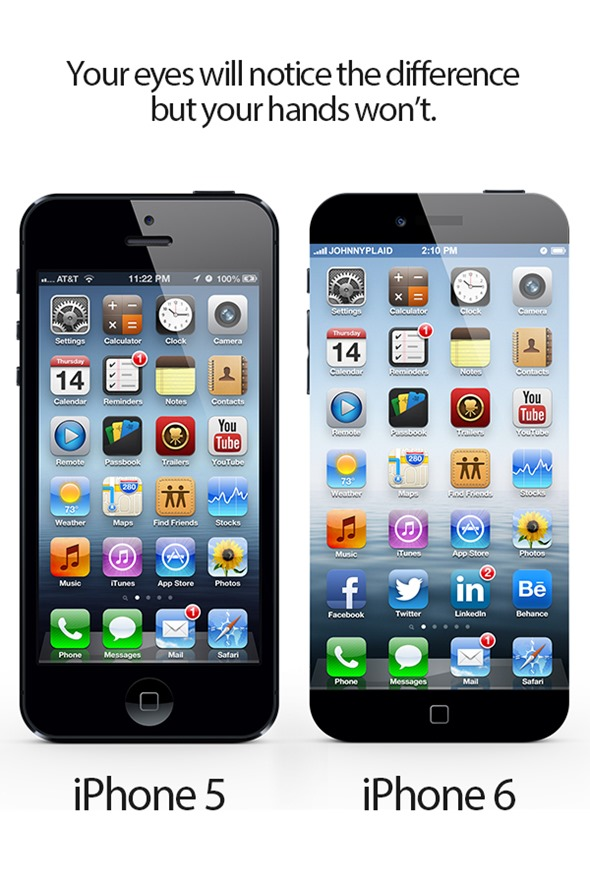 No bezel, give me an edge to edge screen – the new concept for iPhone 6