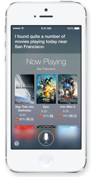 Siri has not only a new appearance, but also a new voice in Apple iOS 7.