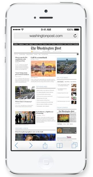 The Safari browser in iOS 7 is renovated, more stable and more effective.