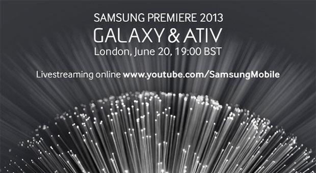 Samsung Premiere 2013 GALAXY & ATIV event begins in a few hours in London