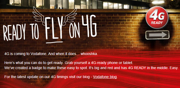 Vodafone finally makes a switch on 4G LTE network