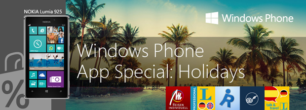 You can now obtain 5 travelling and holiday apps for free - a present from Windows Phone Germany.