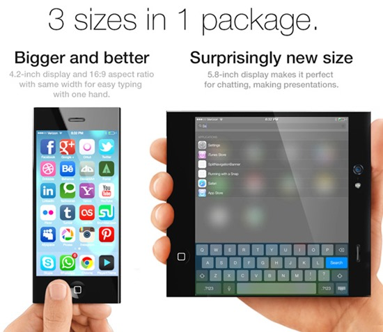 Bigger and flexible display in the new concept for iPhone 6
