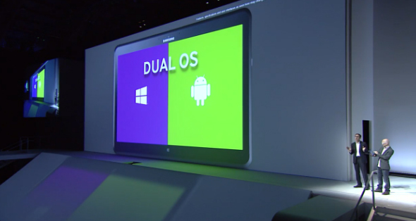 An interesting feature of the tablet is the Dual OS