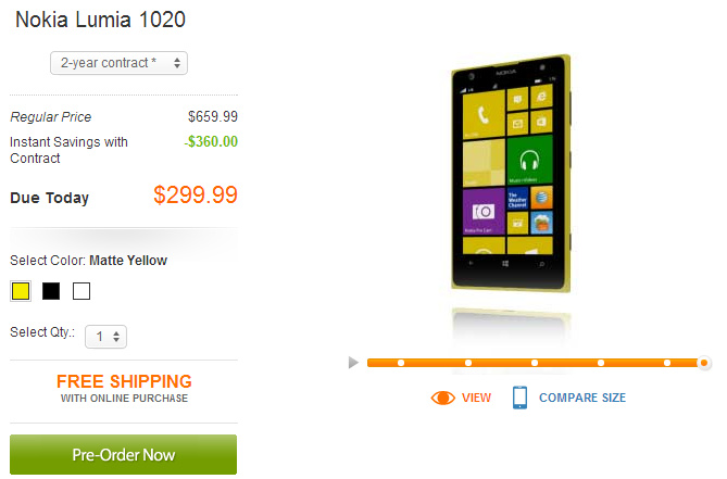 Nokia Lumia 1020 officially launched today by the AT&T carrier