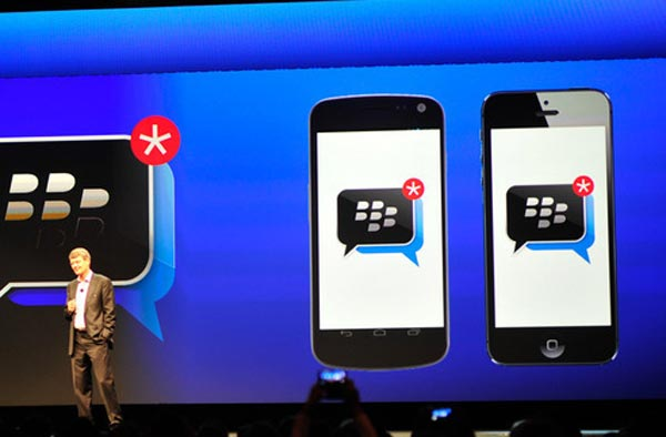 Android and iOS were rumored to get BBM earlier but alas