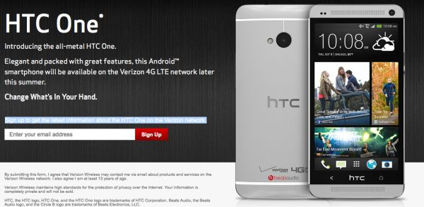 HTC One finally available on Verizon