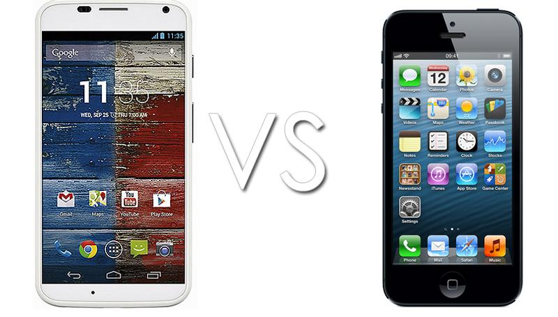 There is always a way to compare them both the Motorla Moto X and the iPhone
