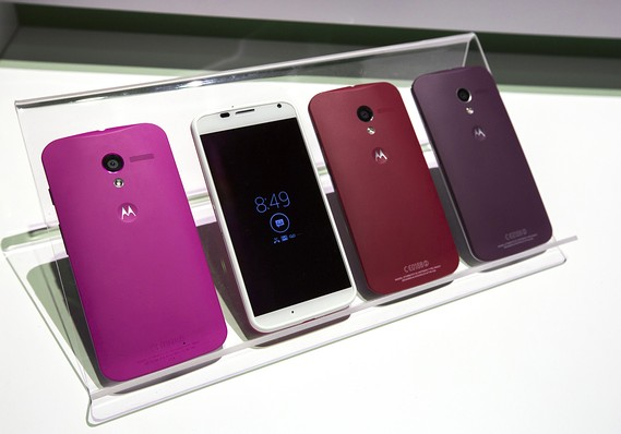 It is easy to choose your color on a Motorola Moto X