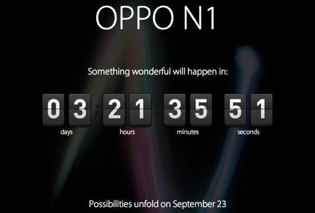 Countdown for the official unveiling of Oppo N1