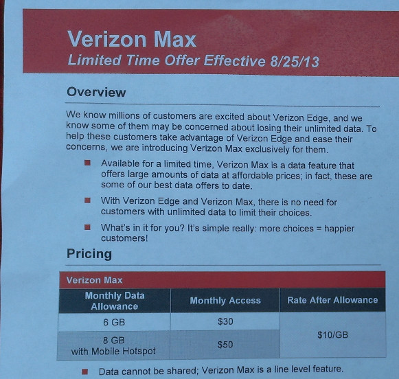 Verizon has new offer for the market