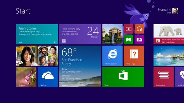 Windows 8.1 version of Microsoft's OS will be launched on 17th of Oct