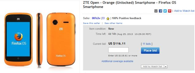 ZTE Open scores great sells numbers and now is out of stock on ebay
