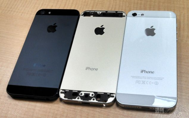 New color option for iPhone 5S, champaign was captured on images