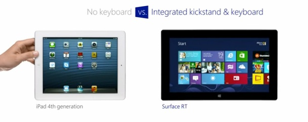 """iPad and Surface RT in a video """"clash"""""""