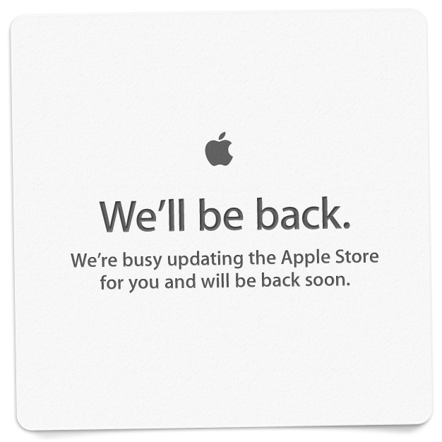 Apple Store is down but the expectations are up for new products open for sell tonight