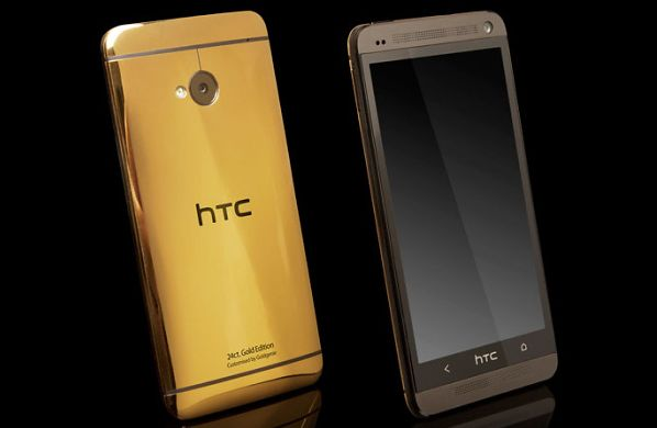 HTC One gold captured in set of photos