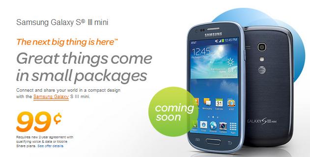 Samsung Galaxy S3 mini comes incredibly cheap