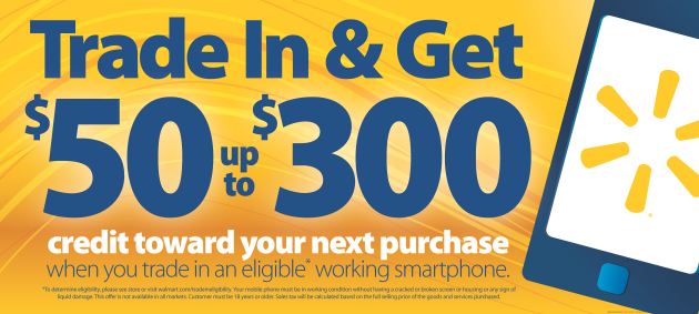 Walmart will provide a trade-in program for smartphones on 21 Sept