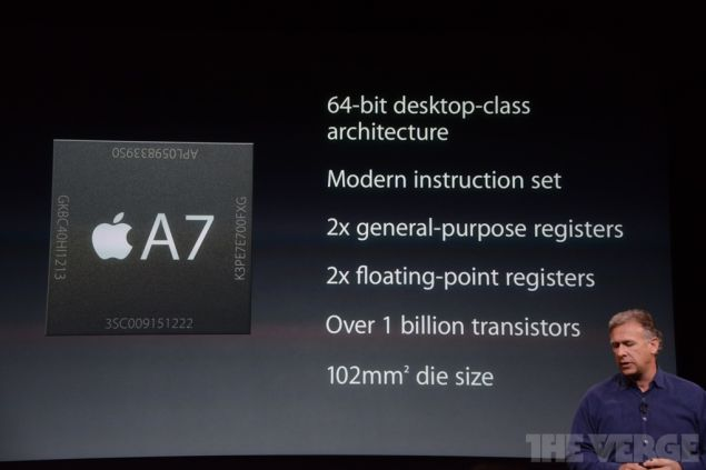 iPhone 5S works with 64-bit A7 chipset under the hood