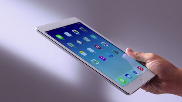 iPad Air is the lightest full-sized tablet in the mobile world