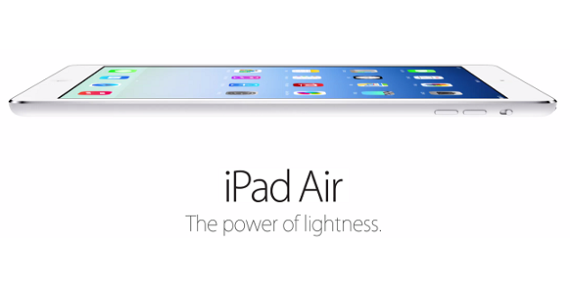 iPad Air is unveiled officially