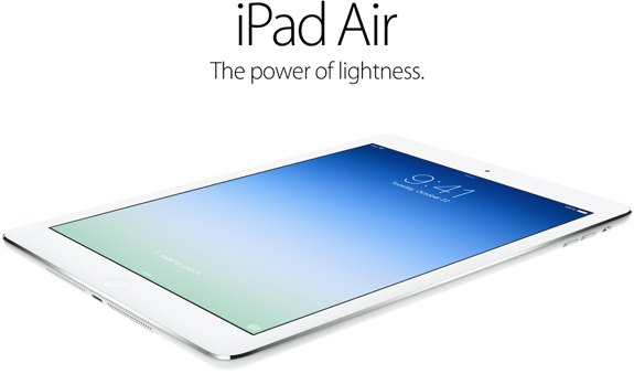 iPad Air became official on 22 Oct
