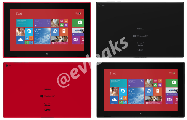 AT&T branded Lumia 1520 and Verizon branded Lumia 2520 spotted in a leak