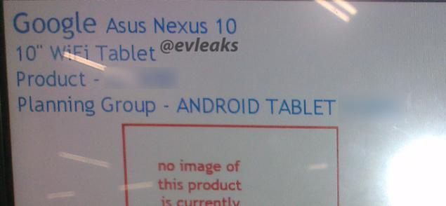 ASUS Nexus 10 appears once again in a leak and rumors