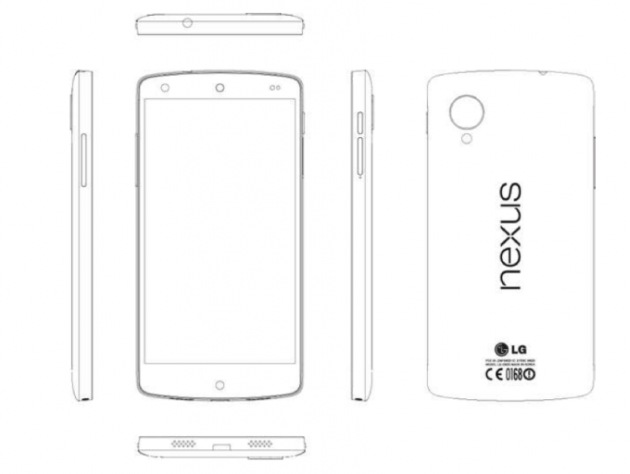 Google Nexus 5 line drawings