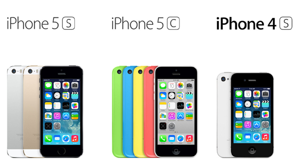 iPhone 5S iPhone 5C and iPhone 4S