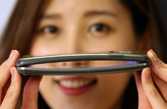 The curved OLED display provides an exceptional visual experience