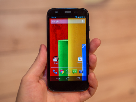 Motorola Moto G boasts the sharpest display in its class, 4.5-inches with 720p
