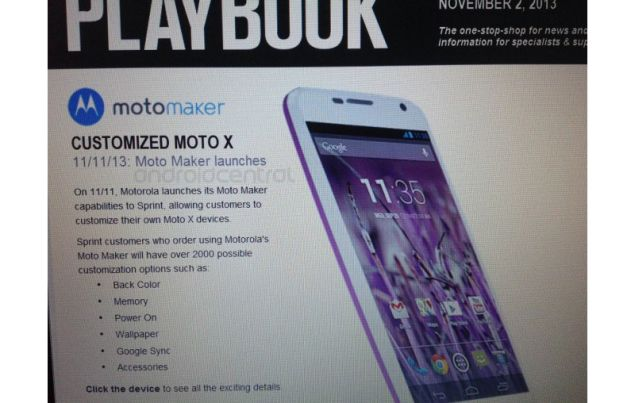 Leak with internal documentation of Sprint reveals the launch date of Moto Maker on 11 November